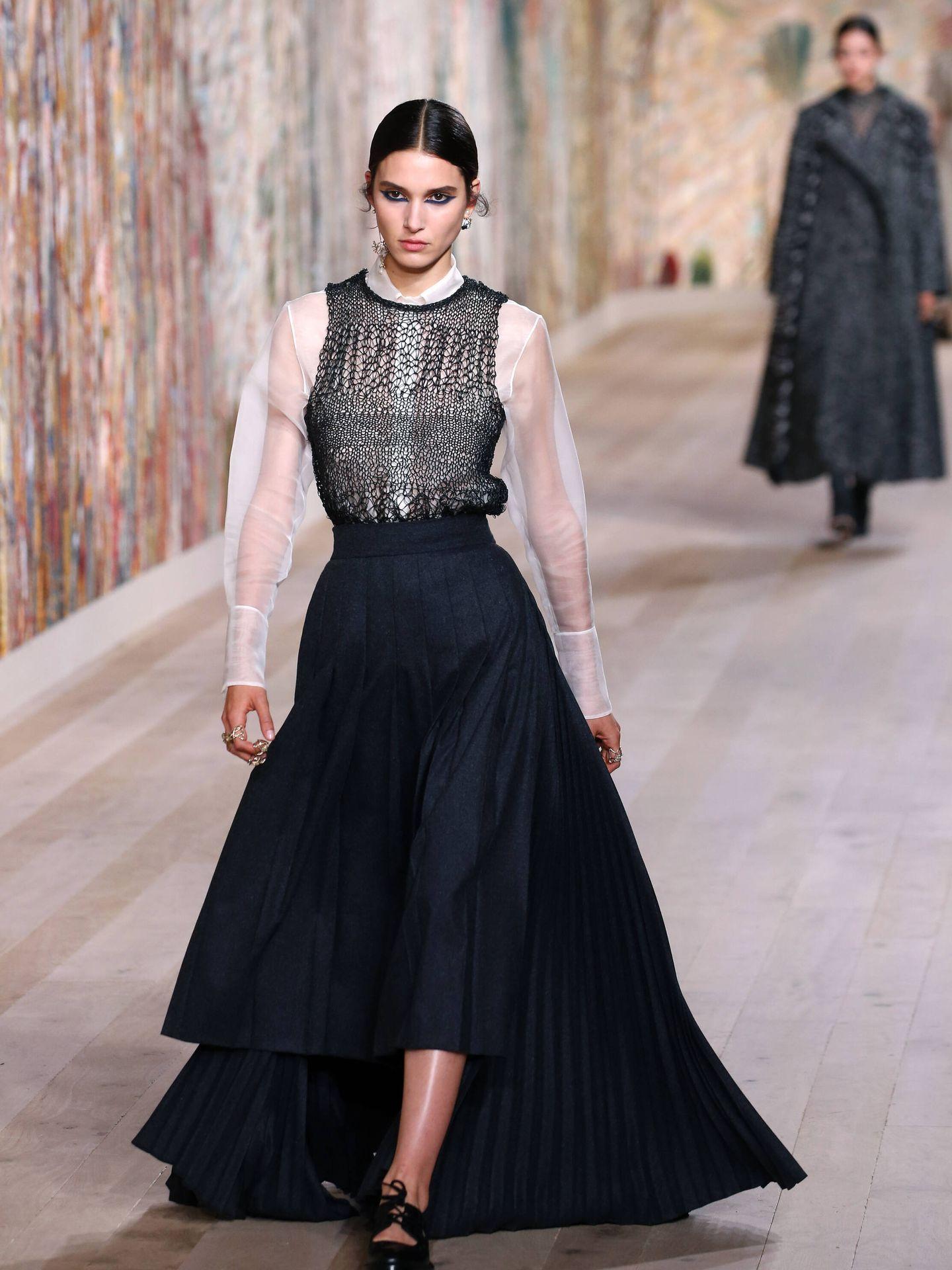 Desfile de Dior en la Semana de la Alta Costura de París. (Getty)