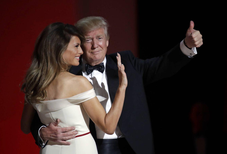 El matrimonio Trump durante el baile