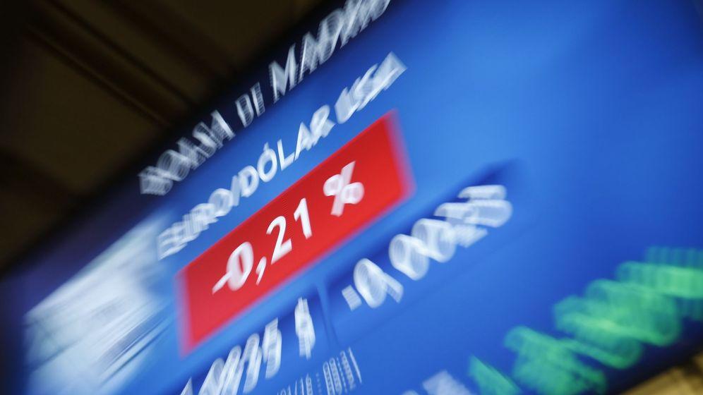 Foto: Monitor en la Bolsa de Madrid. (EFE)