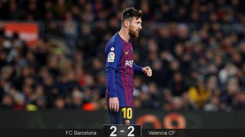 Messi salva un punto para el Barcelona, pero un golpe le deja en duda para la Copa