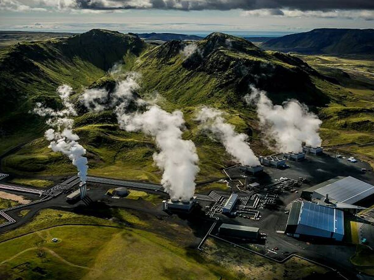 Foto: La planta en funcionamiento en Islandia.