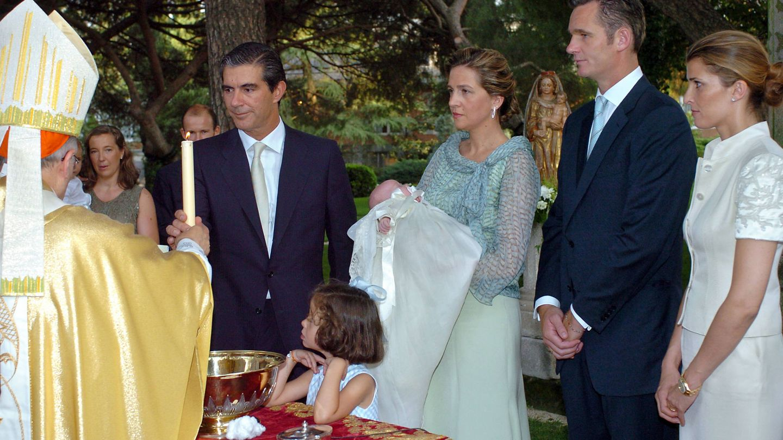 Pedro López-Quesada, padrino en el bautizo de Irene Urdangarin. (Getty)