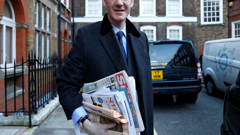 Jacob Rees-Mogg, líder del núcleo duro de los euroescépticos. (Reuters)