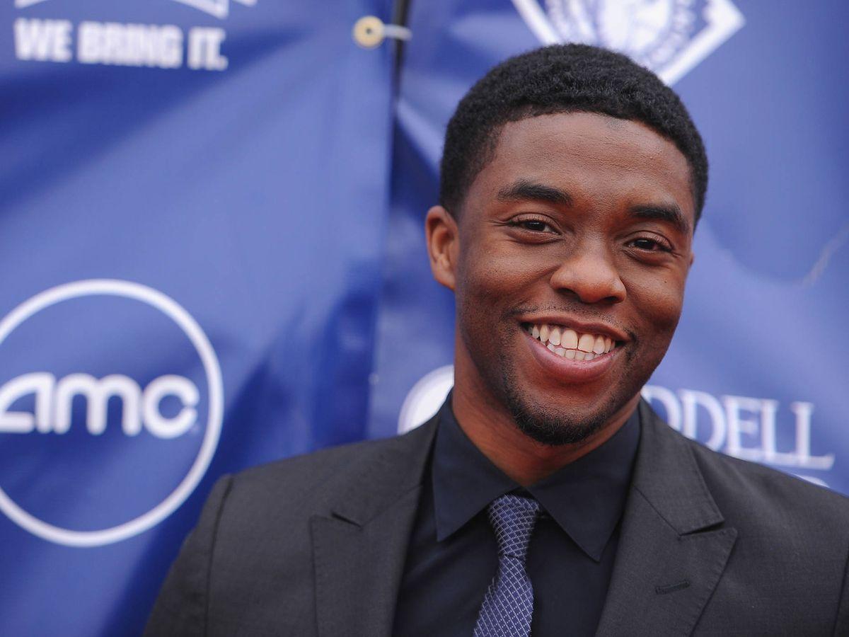 Foto:  Chadwick Boseman nunca perdió la sonrisa. (Getty)