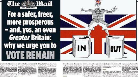 Los dominicales británicos se posicionan sobre el Brexit