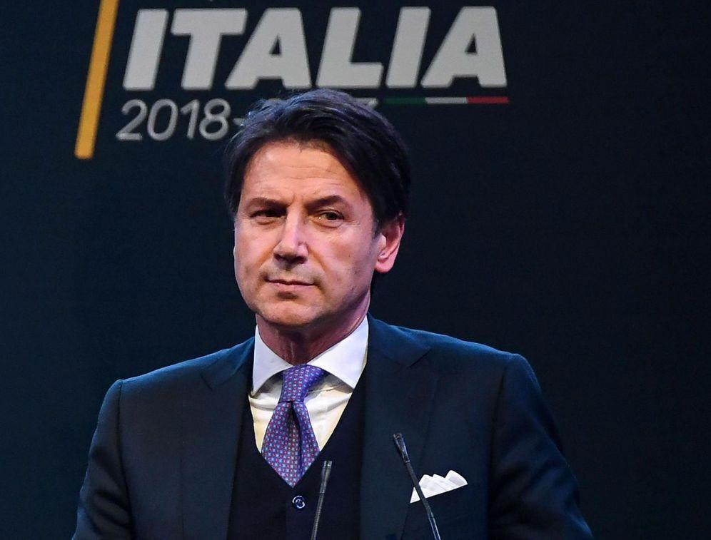 Foto: Giuseppe Conte, durante un mitin en Roma, el 1 de marzo de 2018. (EFE)