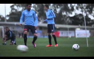 El primer entrenamiento de Villa con el Melbourne City