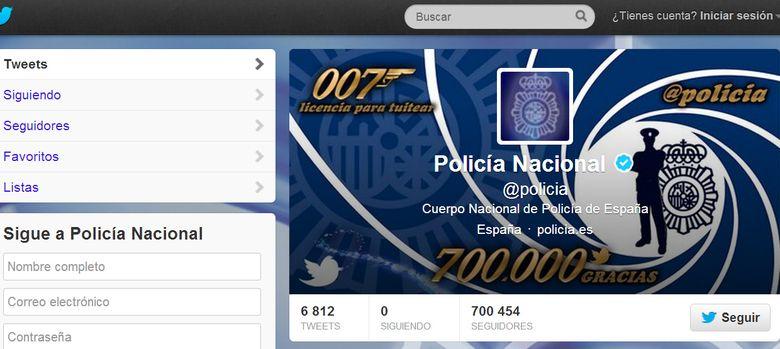 Foto: La Policía Nacional supera los 700.000 seguidores en Twitter