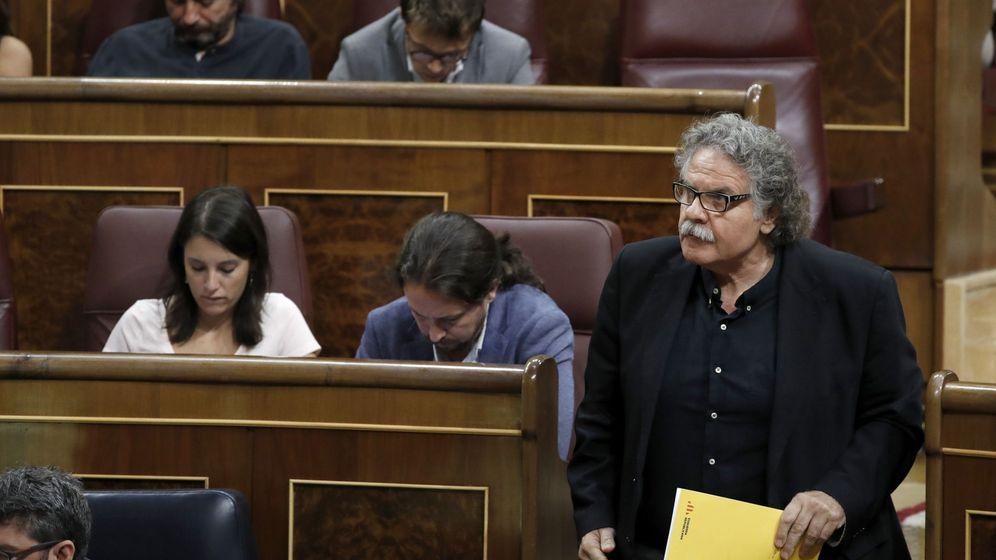 Foto: El portavoz de ERC, Joan Tardà, en el Congreso. (EFE / Emilio Naranjo)