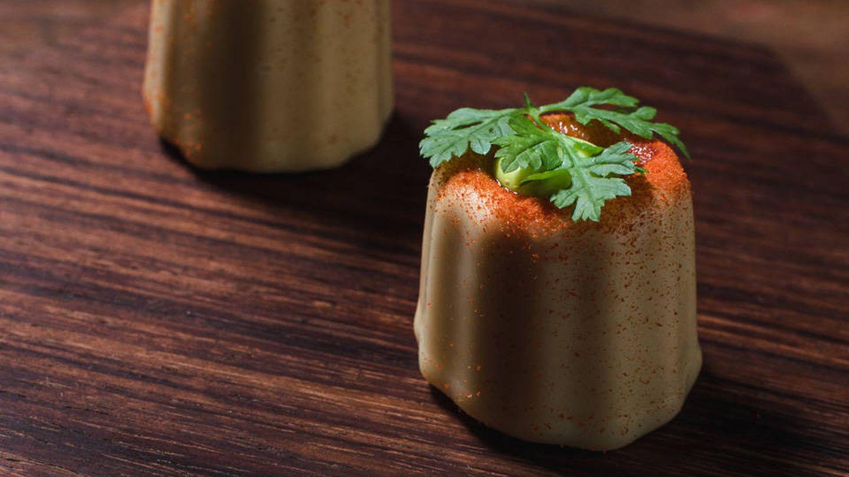 Pastel de cangrejos de río con tomate de Santerra.