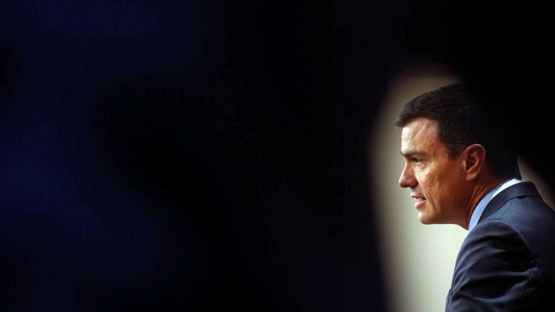 Foto: Pedro Sánchez, durante su rueda de prensa posterior a su segunda reunión con Mariano Rajoy tras el 26-J, este 2 de agosto en el Congreso. (Reuters)