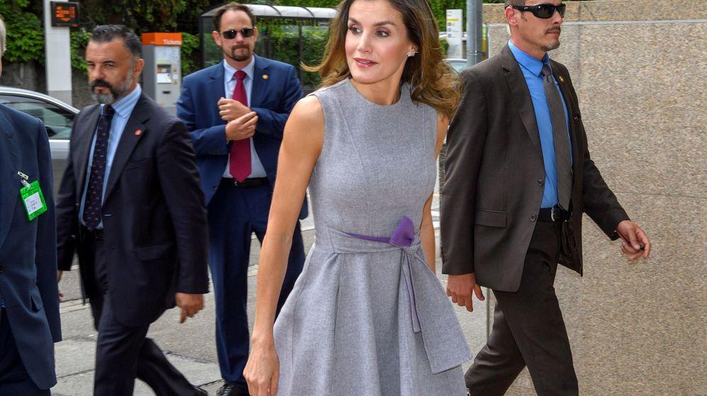 Foto: La Reina a su llegada al acto. (Efe)