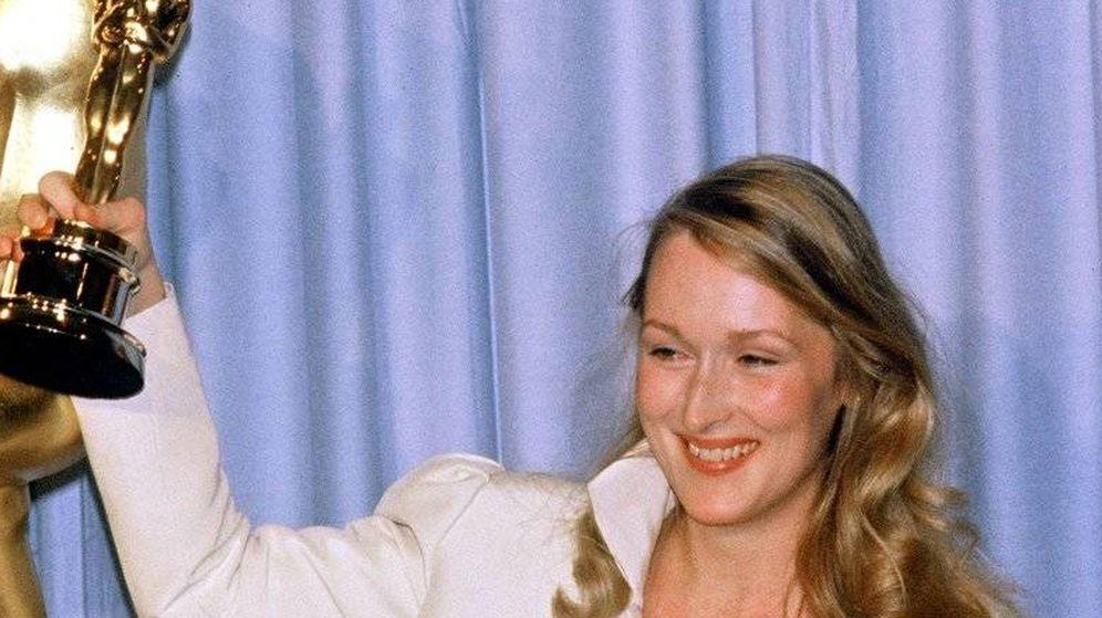 Foto: Meryl Streep con su primer Oscar en 1979.