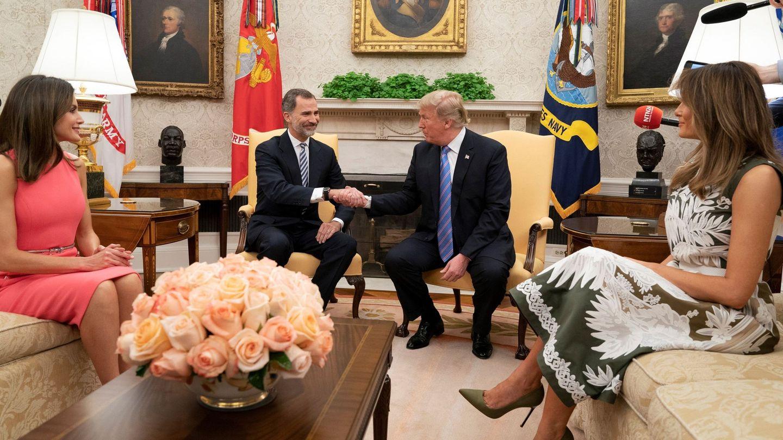 Los Reyes con el Trump. (EFE)