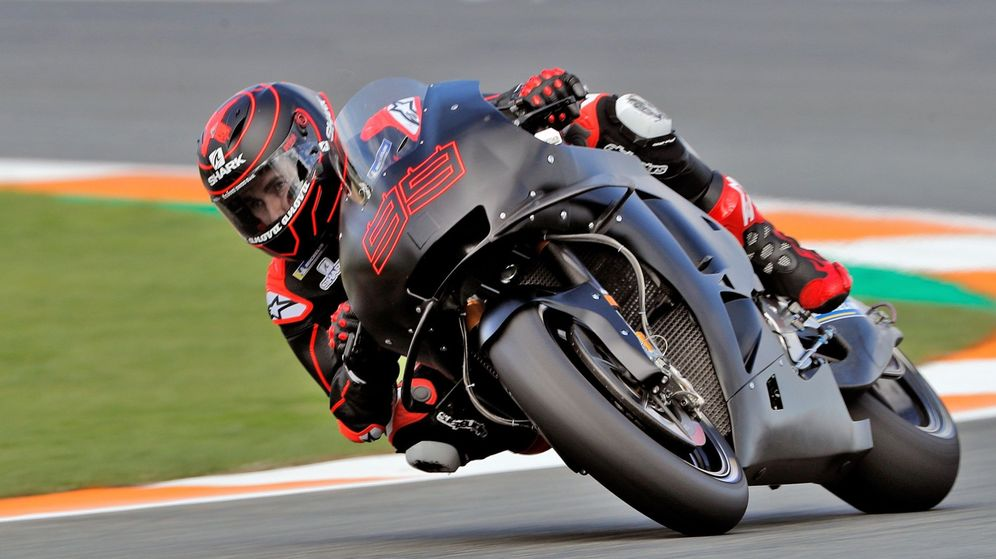 Foto: Jorge Lorenzo, rodando con su nueva Honda. (EFE)
