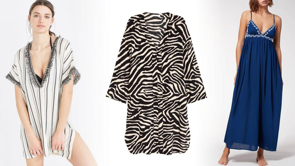 Caftanes, túnicas y vestidos, 18 prendas perfectas para ponerte con el bikini