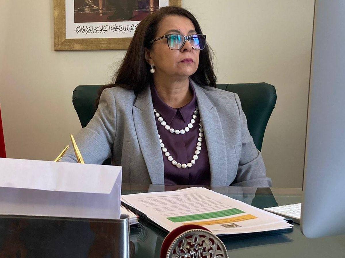 Foto: La embajadora Karima Benyaich. (Twitter @Emb_Marruecos)
