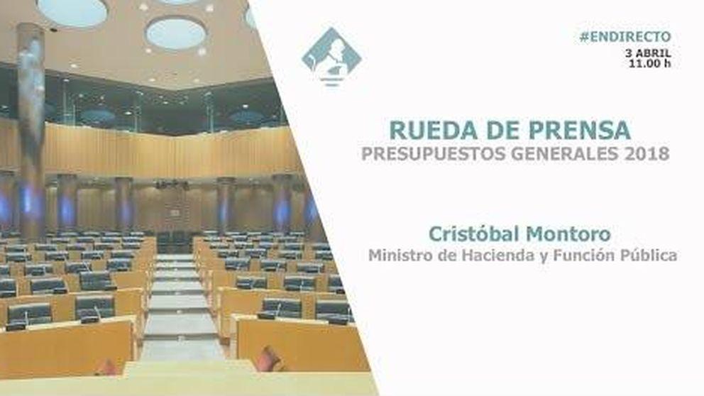 Rueda de prensa de Presupuestos Generales 2018