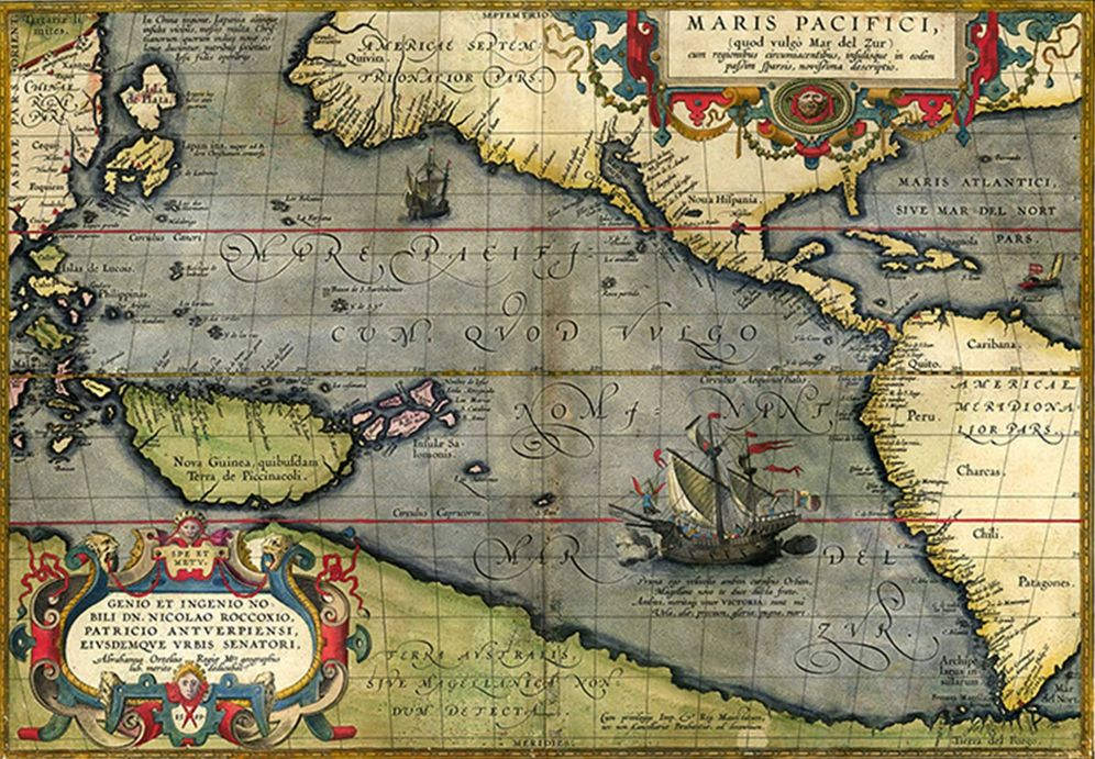 Foto: Mapa 'Maris Pacifici', de Abraham Ortelius, 1589 (Museo Naval de Madrid)