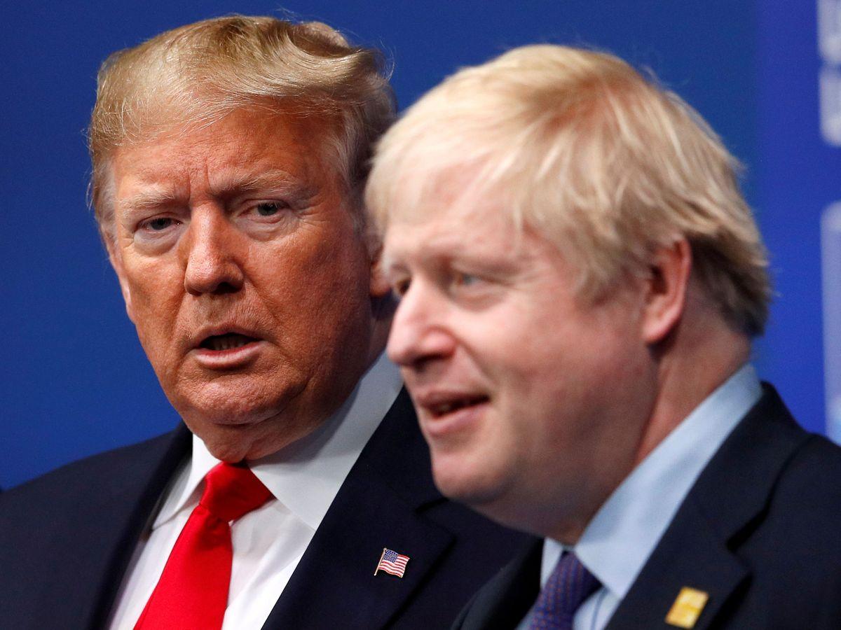 Foto: Donald Trump y Boris Johnson. (Reuters)