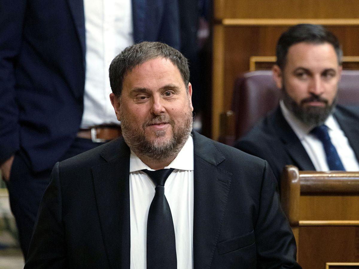 Foto: Oriol Junqueras, en la primera sesión de control del Congreso. (Reuters)