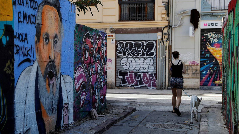 El mural de Bosé. (EFE)