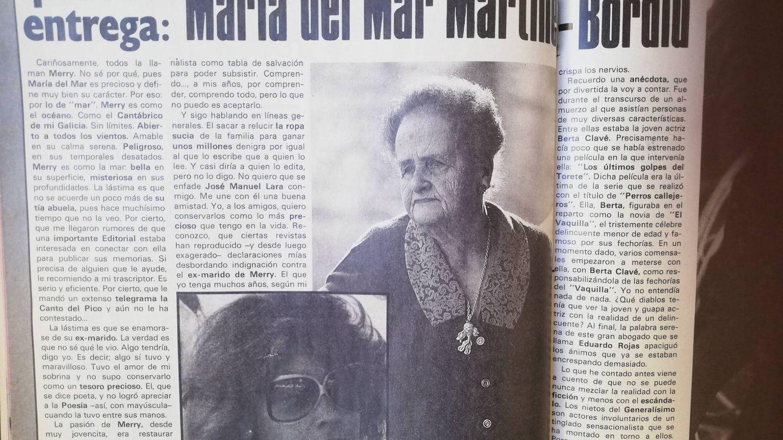 Las memorias de Pilar Franco en 'Protagonistas'