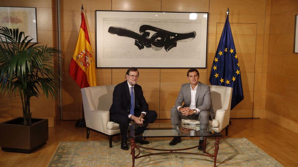 Foto: Mariano Rajoy se reúne con Albert Rivera en el Congreso (Efe).