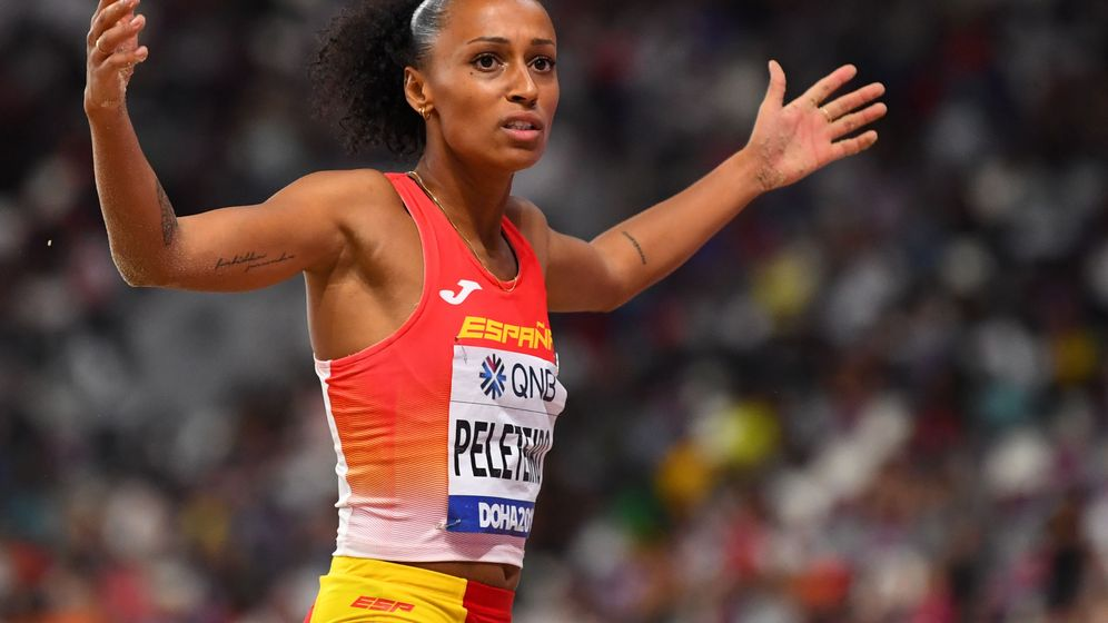 Foto: Ana Peleteiro durante su participación en los campeonatos del mundo en Doha. (EFE)