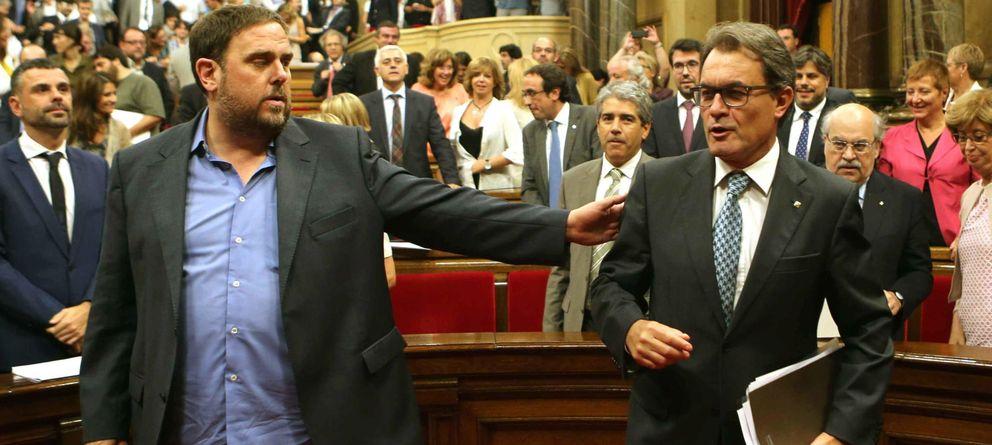 Foto: El presidente de la Generalitat, Artur Mas, y el líder de ERC, Oriol Junqueras (Efe)