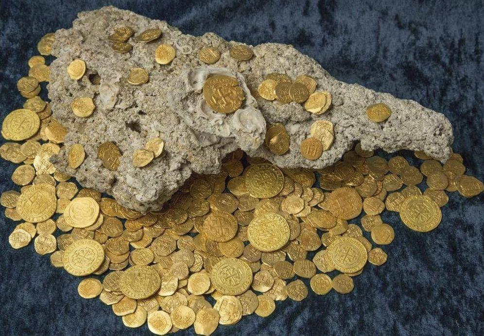 Foto: Encuentran monedas españolas de oro
