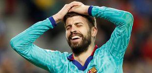 Post de El penalti por agarrón en el descuento que pidieron Piqué y el Barcelona