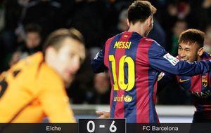 El Barça no tiene piedad del Elche y le usa para difuminar la realidad