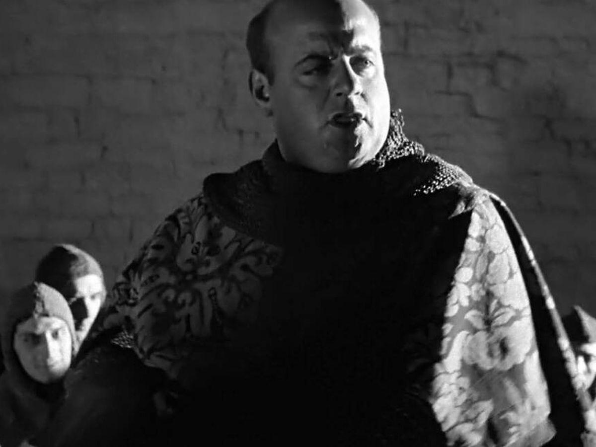 Foto: Juan Estelrich March, en su papel de 'sheriff' en 'Campanadas a medianoche', de Orson Welles. (Demipage)