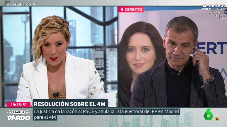 La pregunta de Cristina Pardo a Toni Cantó tras ser apartado de las listas del PP