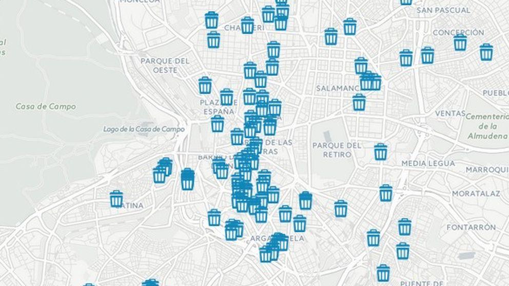 ¿Madrid da asco? 'Mapeamos' la basura en las calles de la capital