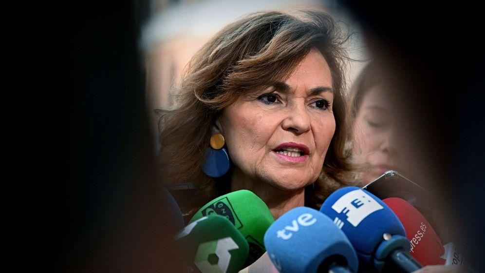 Foto: La vicepresidenta del Gobierno en funciones, Carmen Calvo. (EFE)