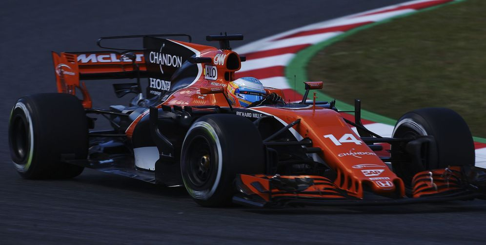Foto: Imagen del McLaren de Fernando Alonso. (EFE)