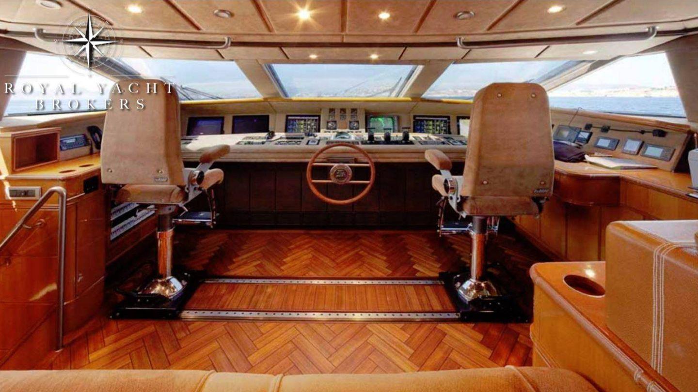 Vista de los mandos del 'Foners'. (Royal Yacht Brokers)