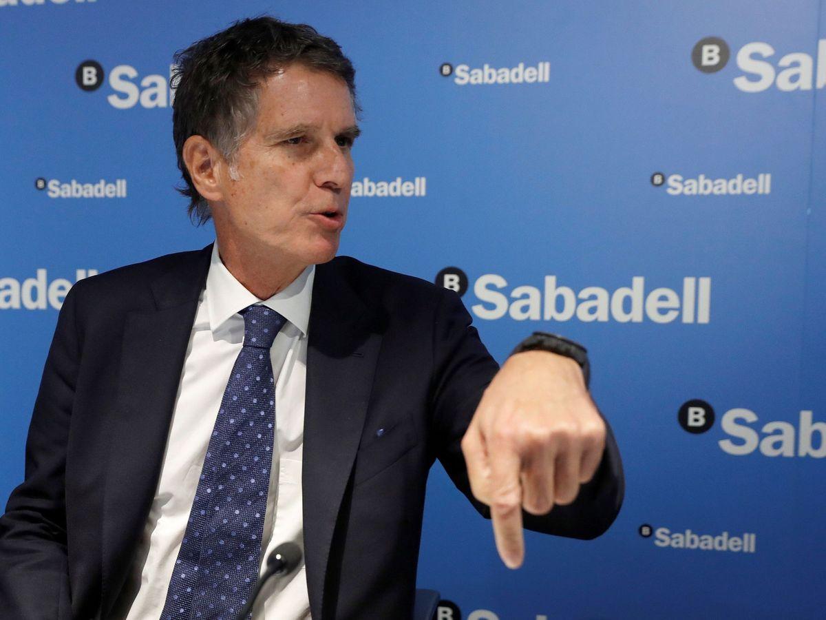 Foto: Jaime Guardiola, consejero delegado de Sabadell. (EFE)