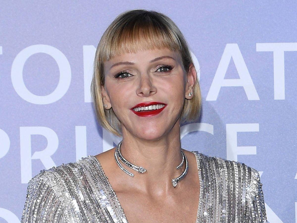 Foto: Charlène de Mónaco, con uno de sus cambios de look. (Getty)