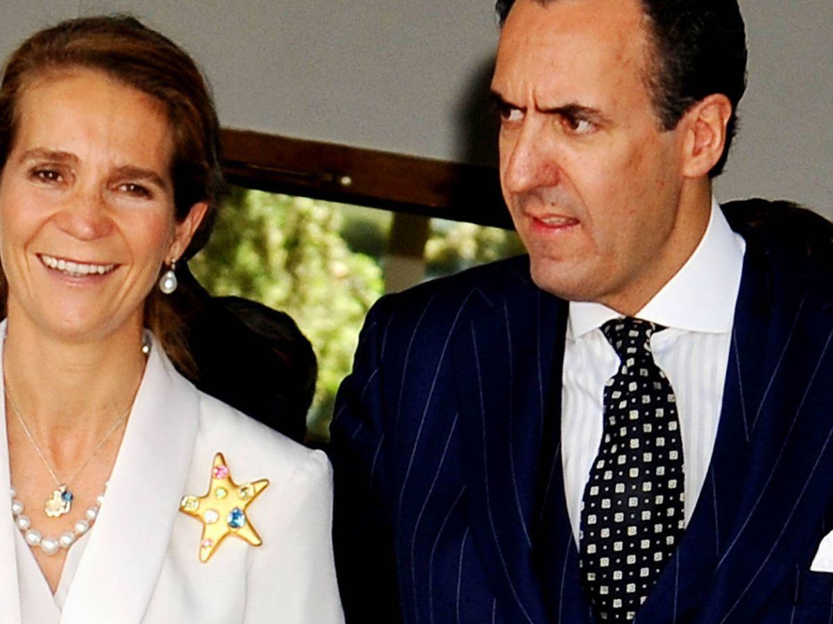 Foto: La infanta Elena y Marichalar. (Getty)