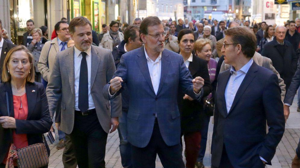 PP | Jesús Aguilar Visita Galicia, Acompañado De Ana Pastor Y El Presidente De La Xunta, Alberto Núñez Feijoó Rajoy-y-sanchez-se-cruzan-en-la-cuna-del-presidente-a-la-caza-del-escano-pontevedres