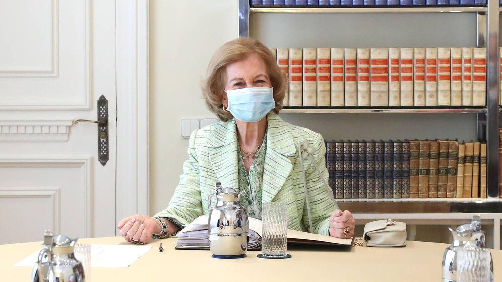 Foto: Doña Sofía, en la reunión del patronato de la Fundación Reina Sofía. (Fundación Reina Sofía)