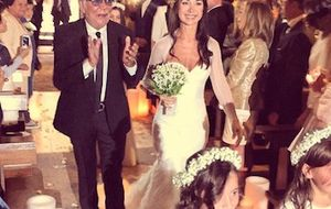 Roberto Cavalli casa con orgullo y nostalgia a su bebé Cristina