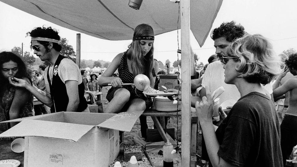 Foto: Woodstock, año 1969.
