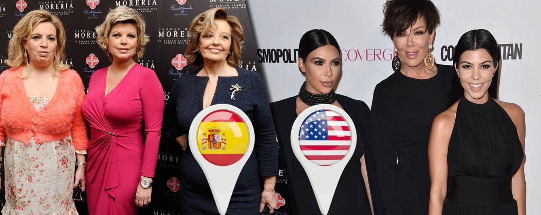 Foto: Las Campos vs. las Kardashian (Fotomontaje: Vanitatis)