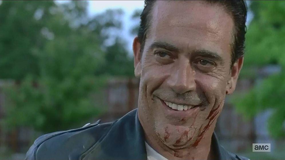 Foto: Negan, cubierto de sangre en el episodio 7x08