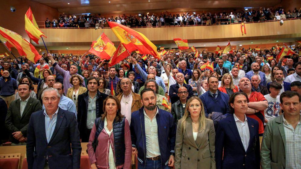 Foto: El presidente nacional de Vox, Santiago Abascal, ha participado este sábado en un acto preelectoral en Ciudad Real. (EFE)