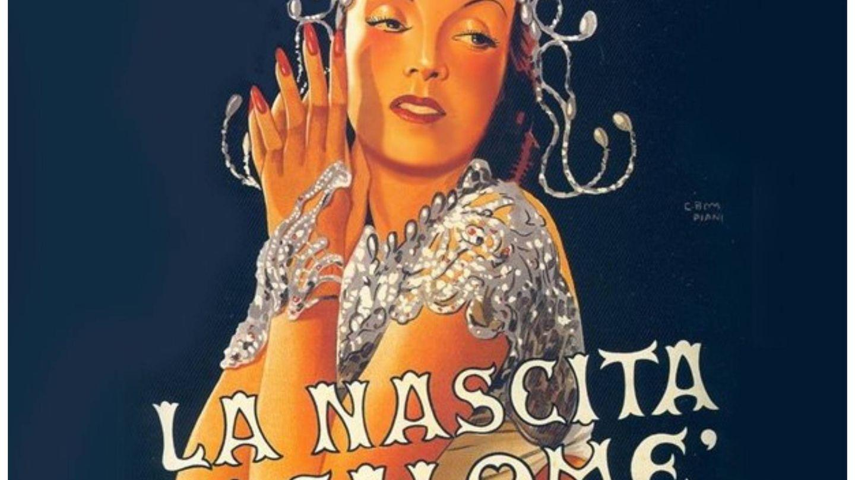 La actriz en el cartel promocional de 'El nacimiento de Salomé' en 1940. (Stella Films)
